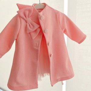 Other - Pink pea coat with matching dress